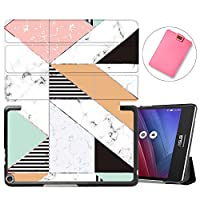 MAITTAO Slim Folio Shell For ASUS ZenPad 8.0 Z380M Case 2015 Release, Magentic Smart Stand Cover with Wake/Sleep for ASUS ZenPad 8 Z380C / Z380KL 8-Inch Tablet Sleeve Bag 2 in 1, Flowers & Leafs 13