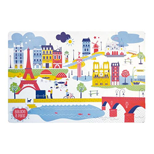 Winkler - Set de table - Décoration table - Tapis de table - Résistant chaleur - Antidérapant - Entretien facile - 100% Polypropylène - Assortis Unique - Balade A Paris