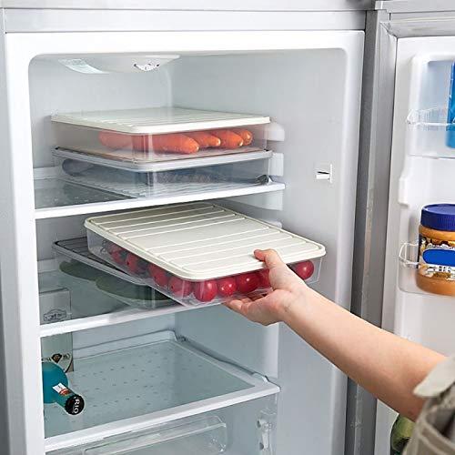 Zonster 3pc Lebensmittel VorratsbehäLter KüHlschrank-Organisator-Fall Stapelbare Gefrierschrank LagerbehäLter Frisch Halten FüR Lagerung Von Fisch Fleisch GemüSe
