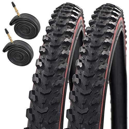 Raleigh CST T1310 Eiger Redline 26' X 1.95 Mountain Bike Tyres with Presta Inner Tubes (Pair)