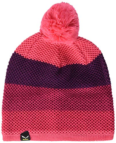 Salewa 00-0000027606_1531 Beanie Mixte Enfant, Rouge Red Stripes, FR : L (Taille Fabricant : Large/55)