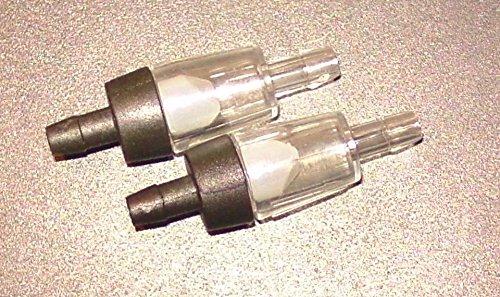 Osaga 5 Stück Klar Schwarz oder Blau für Luftpumpen. Aus Kunststoff Einweg-Rückschlagventile für Aquarium
