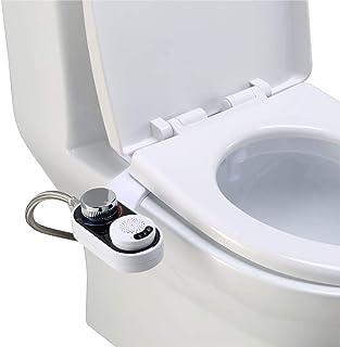 Bidés para Inodoro, frío/Caliente Agua Aseo, baño higiénico Bidé Asiento de fijación Auto Limpieza de la Boquilla de higiene Personal for el Flujo de Agua Ajustable