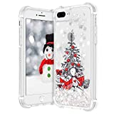 VEGO Christmas Case for iPhone 6 Plus 6s Plus 7 Plus 8 Plus, Glitter Flowing Liquid Sparkle Floating Bling Christmas Tree Pattern Soft TPU Clear Cute Girls Children Women Gifts Case 5.5 inch (Tree)