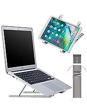 ノートパソコンスタンド タブレット 折りたたみ式 pcスタンド ラップトップスタンド ノートブックスタンド アルミ製 軽量 持ち運び便利 高さ調整機能付き