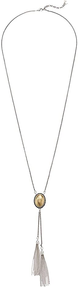 Pave Fringe Lariat Necklace