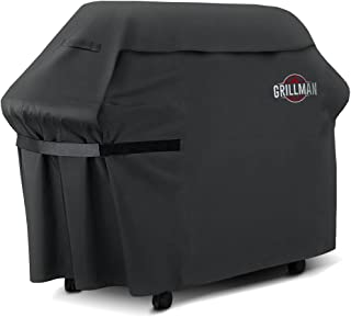 Grillman Premium (58 Inch) BBQ Grill Cover, Heavy-Duty Gas Grill Cover For Weber, Brinkmann, Char Broil etc. Rip-Proof , UV & Water-Resistant