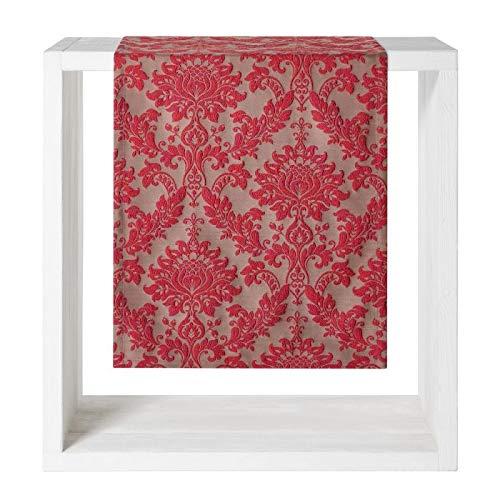 Proflax Tischdecke Velasco l 140x250cm l Weihnachten l Jacquard rot