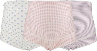 SYTS 3 قطع/مجموعة ملابس داخلية قطنية للنساء الحوامل قابلة للتعديل مقاس كبير خصر عالي مسامي سراويل الأمومة (XXL-02)