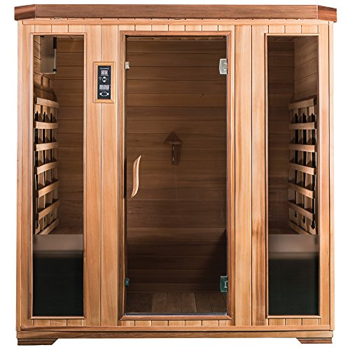 SaunaMed 4 Person Luxury Cedar FAR Infrared Sauna EMR Neutral™