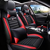 Fly5D Full Set Car Seat Cover, Professional PU Leather Full...