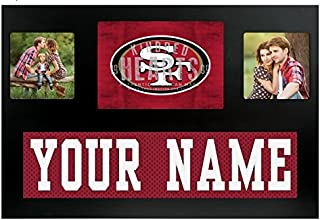 San Francisco 49ers NFL Custom Jersey Nameplate and Logo Picture Frame