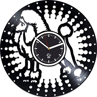 Poodle Dog Vinyl Wall Clock, Wall Clock Large, Poodle Dog Gift, Gift For