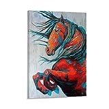 jiandan Poster auf Leinwand, Motiv: Pferd, Friesen, 30 x 45