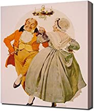 Lilarama Norman Rockwell - Merry Christmas Couple Dancing Framed Canvas Art Print Reproduction