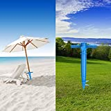 CHENGDE Beach Umbrella Anchor,Adjustable Umbrella Sand Anchor Spike Stand Holder for Fishing Pole