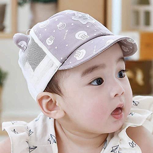 Sombrero de la cara de Sun del bebé sombrero de seguridad de los niños con careta desmontable UV Borrar Visor de ala ancha for el casquillo del cubo for Niños anti niños Baba prueba de salpicaduras Su
