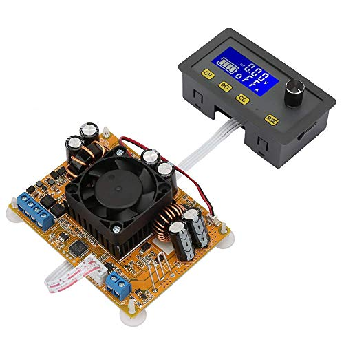 Nologo TIN-YAEN Step-Down Module, DC-DC 5A LCD 6V-32V to 0-32V Power Supply Module Step-Down/Up Digital Automatic Power Supply with Fan Accessories