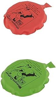 Fenteer Pièces De 2 Whoopee Coussin Pet Whoopie Balloon Gag Blague Blague Trick Jouet Woopy Cadeau Rouge Et Vert