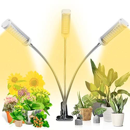 Pflanzenlampe LED 75W Pflanzenlicht Pflanzenleuchte 150 LEDs Pflanzenlampen Wachsen licht Vollspektrum für Zimmerpflanzen mit 3H/6H/12H Zeitschaltuhr, 3 Arten von Modus, 5 Arten von Helligkeit
