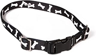Coastal Pet Replacement Receiver Collar Straps for All Brands Electric Dog Fences | Black with White Bones | PetSafe, Invisible Fence, More