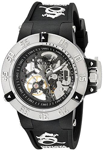 Relógio feminino Invicta 17129 Subaqua mostrador analógico mecânico de mão com vento preto