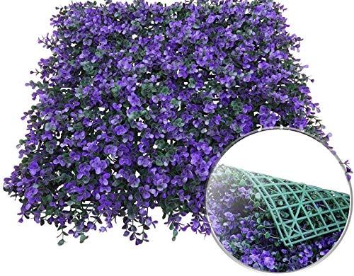 Kunstmatig Groen Buxus Decor Struiken Groen Panelen Decoratieve Hekken Covers voor Outdoor Indoor Gebruik als muurachtergrond (Color : Purple)