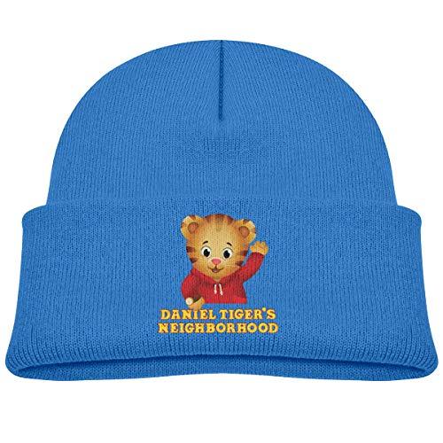 Unisex Daniel-Tiger's Neighborhood Children Winter Hat Kids Beanie Hat Boys Girls Hats Casual Caps Hedging Cap Blue