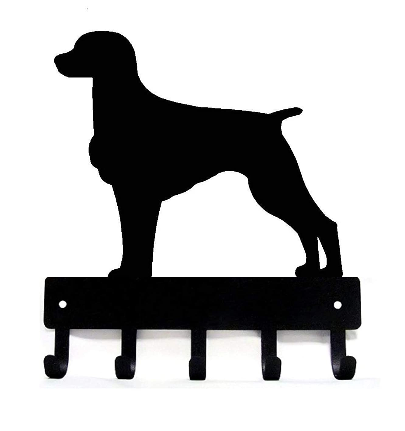 歯痛浸漬呼び起こすThe Metal Peddler Brittany キーラック 犬用リーシュハンガー Small 6 inch wide ブラック KR-Brittany-SM