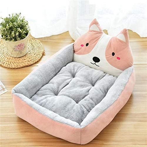 Pet Bed Cartoon Pet Bed Soft Kennel Winter Warm Pet Supplies House For Cat Mat Bed For Small Medium Large Dog Thicken Lounger Sofa,3,S