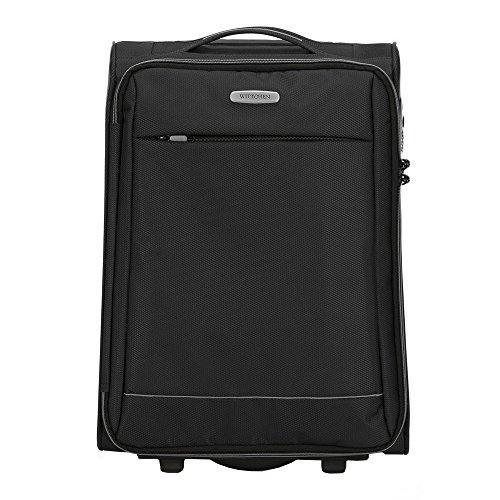 WITTCHEN Koffer – Handgepäck | Textil, Material: Polyester | hochwertiger und Stabiler | Schwarz | 33 L | 54x36x20 cm