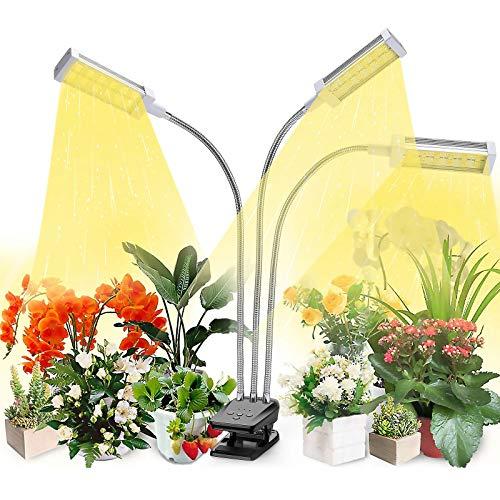 VOGEK Led Pflanzenlampe Vollspektrum, Grow Lampe für Zimmerpflanzen, 144 LEDs Pflanzenlicht mit Timing Funktion, 3 Timer 3/6/12H, 3 Arten von Modus, 10 Helligkeitsstufen