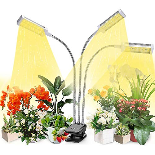 Plant Grow Light, VOGEK LED Growing Light Full Spectrum for Indoor Plants, Plant Growing Lamps for Seedlings, 3 Switch Modes 10 Brightness Settings
