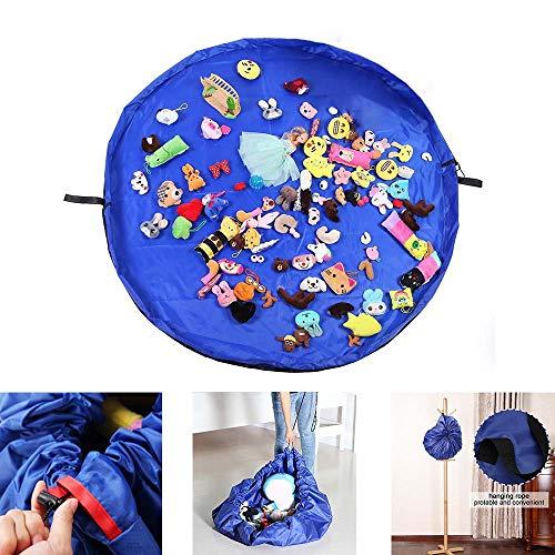 Kinder Spielzeug Aufräumsack mit Tragegriff,Kordelzug bewegliches Praktischen Spieldecke,Für Outdoor Picknick und Zuhause,Kinderzimmer(150cm)