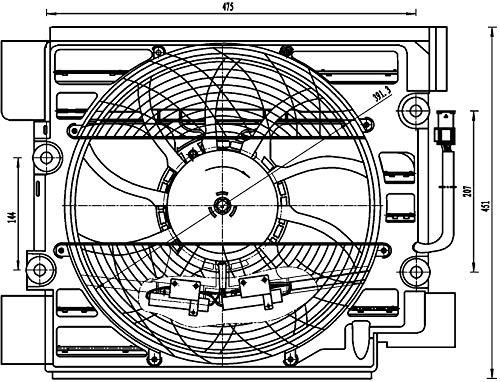 Mahle ACF 23 000S Ventilador de Condensador A/C