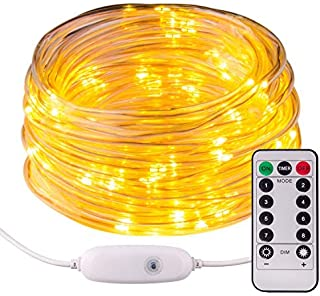 Moreplus Fairly Lights USB Plug-in Rope Light 33ft, 100 LED 8 Modes Waterproof Indoor & Outdoor Decoration Twinkle Lights ...