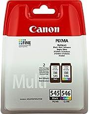 Canon PG-545 + CL-546, Cartuccia d'inchiostro originale multipack nero e tricolore per stampante a getto d'inchiostro Pixma