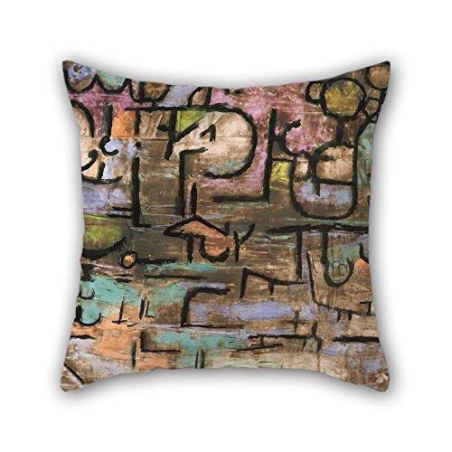 Pintura al óleo Paul Klee - After The Flood Fundas de Cojines Regalo o decoración para el hogar Niños Niñas Navidad Cumpleaños Sala de Estar - Cada Lado