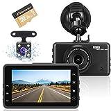 Videocamera Dashcam per auto, videoregistratore full HD 1080P con obiettivo grandangolare ...