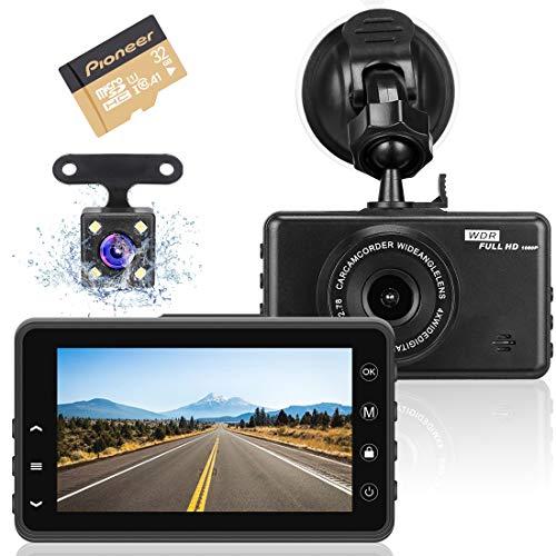Cámara de Coche Dashcam, Grabadora de Video Full HD 1080P con Lente Gran...