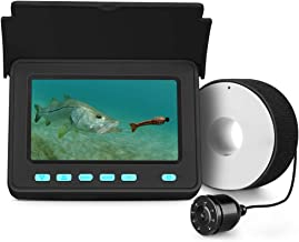 Eyoyo Portable Underwater Fishing Camera Fixed on Rod Underwater Video Fish Finder 4.3 inch Monitor 20M Cablewith HD 1000 TVL IP68 Waterproof 8 Infrared LED Camera for Ice Lake Sea Boat Kayak Fishing