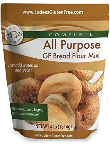 Judee's All Purpose Gluten Free Bread Flour Mix - Make Bread, Pizza Crusts, Bagels, Buns, English Muffins, Focaccia and more, 4lb