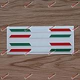 2X Glossy 6'' Pair Italy Italian Flag Stripes Decal Stiker Italia b Car Vinyl sda2