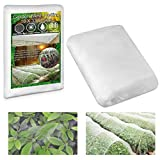 """KY-YPFW 10x33 Ft Garden Netting Plant Covers - 0.032"""" x 0.04"""" Ultra Fine Mesh Protect Vegetables Fruits Flowers Plants Crops Greenhouse Row Cover Protection Screen Barrier Net for Birds Animals, White"""