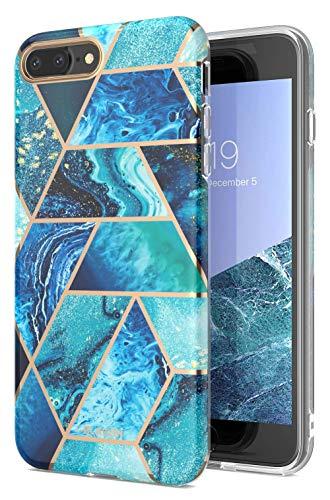 i-Blason Cosmo Lite Designed for iPhone 8 Plus Case/iPhone 7 Plus Case, Slim Stylish Protective Bumper Case with Camera Protection for iPhone 8 Plus 2017 / iPhone 7 Plus 2016 (Blue)