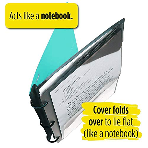 Five Star Flex Hybrid NoteBinder, 1-1/2 Inch Binder with Tabs, Notebook and 3 Ring Binder All-in-One, Teal (38681) Photo #8