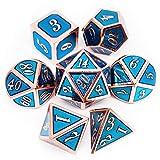 Haxtec Metallwürfel, D&D Würfel, D20, D12, D10, D8, D6, D4, für Dungeons und Dragons DND, RPG,...
