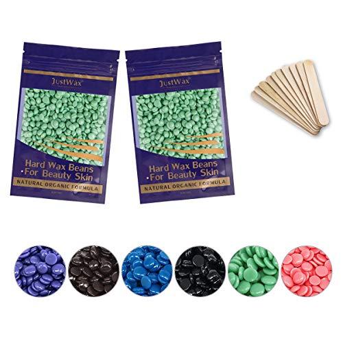 Wachs Haarentfernung -Wachsperlen -Wachsbohnen -Wax Haarentfernung -Hard Wax Beans -Waxing Perlen -Waxperlen -Wachs Beans -Wachs Pearl -Niedrigtemperatur ohne Vliesstreife 200g (Grüner Tee)
