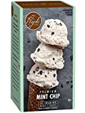 Triple Scoop Ice Cream Mix, Premium Mint Chocolate Chip, starter for use with home ice cream maker, no artificial colors or flavors, ready in under 30 mins, makes 2 qts (1 15oz box)