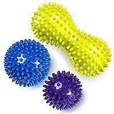 Palla di massaggio-3 pezzi Massaggiatore plantare Palle ginniche - Roller point autoagglomerante per rilascio miofasciale e fascite plantare - Migliora riflessologia e mobilità